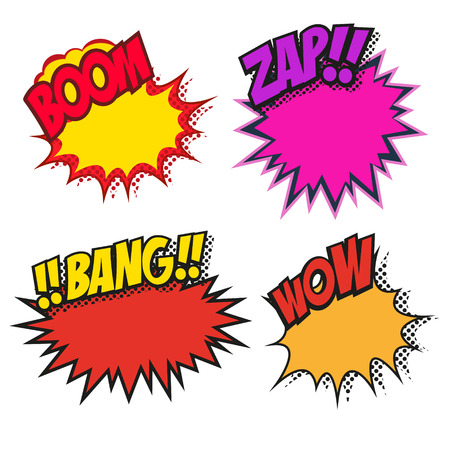 Set of speech bubbles, vector illustration Vector
