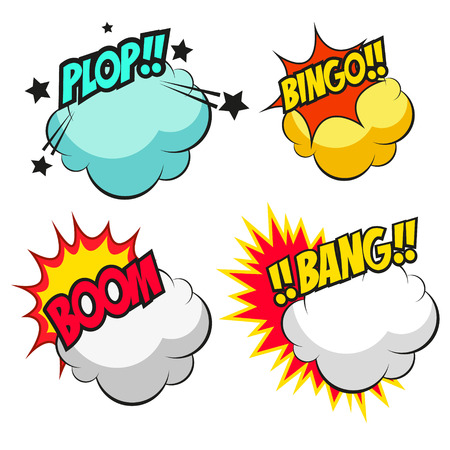 Set of speech bubbles, vector illustration Vector