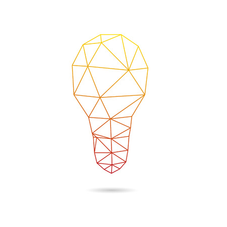 Lightbulb abstract isolated on a white backgrounds, vector illustration