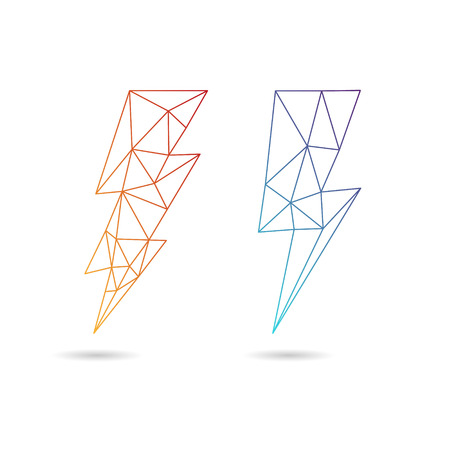Lightning icon abstract isolated on a white backgrounds, vector illustration Illustration