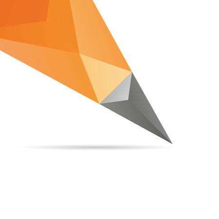 lapiz: L�piz abstracto aislado sobre fondos blancos, ilustraci�n vectorial