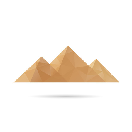 Egypt pyramids icon abstract isolated on a white backgrounds, vector illustration Vector