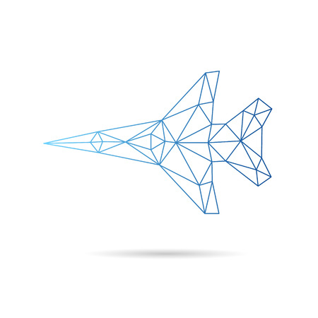 Airplane abstract isolated on a white backgrounds, vector illustration