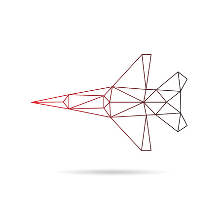 Airplane abstract isolated on a white backgrounds, vector illustration Vector