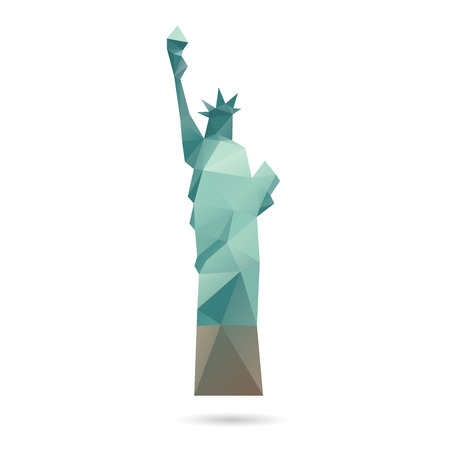 statue of liberty: Statue of Liberty abstract isolated on a white backgrounds
