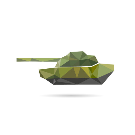 wartime: Tank icon abstract isolated on a white backgrounds