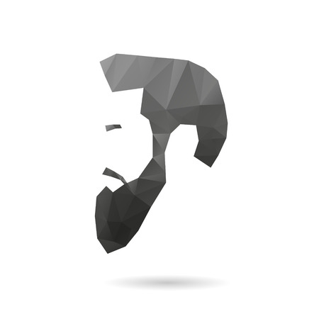 beard man: Fashion silhouette hipster style, vector illustration