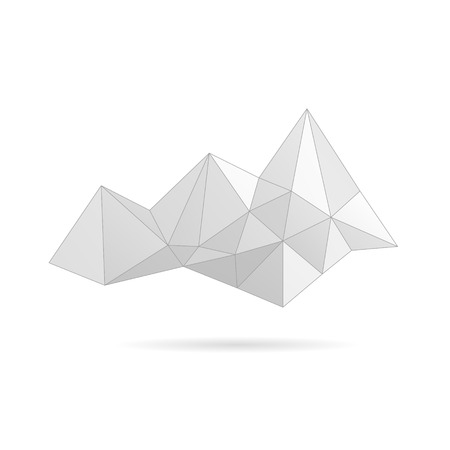 Mountain abstract isolated on a white backgrounds, vector illustration