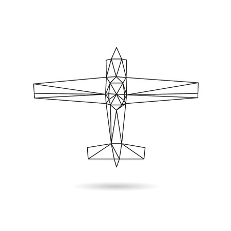 airwaves: Airplane abstract isolated on a white backgrounds, vector illustration