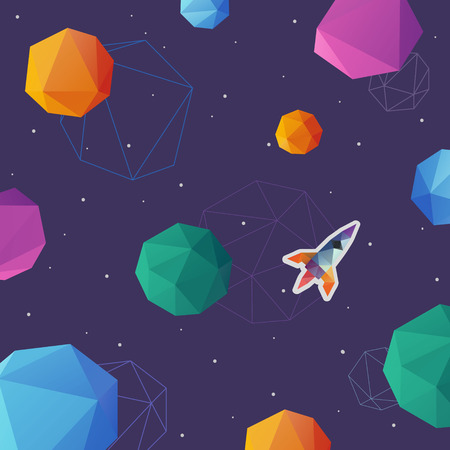 space background: Space background abstract, vector illustration