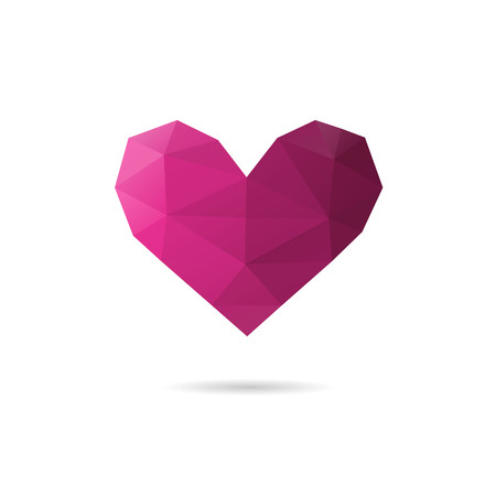Heart shape abstract isolated on a white backgrounds, vector illustration Illustration
