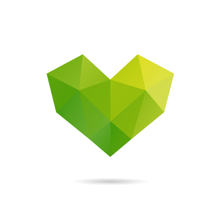 amur: Heart shape abstract isolated on a white backgrounds, vector illustration Illustration