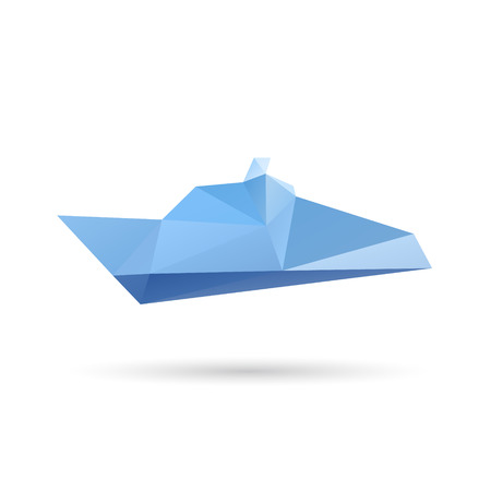 keel: Boat abstract isolated on a white backgrounds, vector illustration