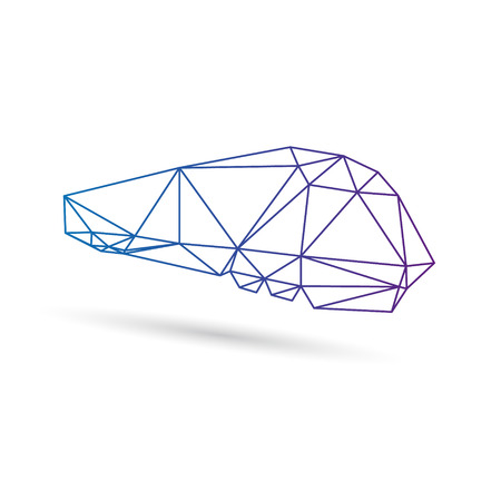 locomotion: Train abstract isolated on a white backgrounds, vector illustration Illustration