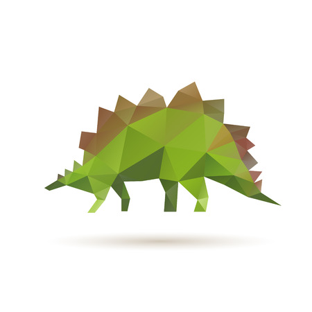 Dinosaur abstract isolated on a white backgrounds, vector illustration Vector
