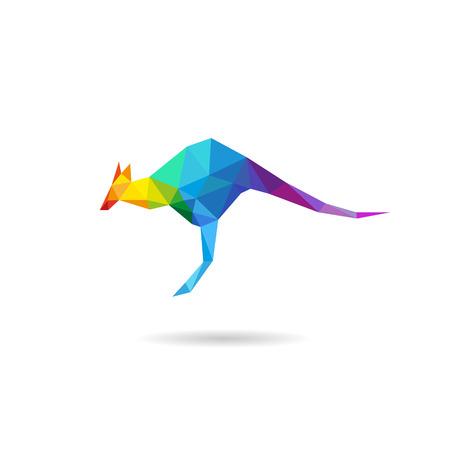 kangaroo white: Kangaroo abstract isolated on a white backgrounds, vector illustration Illustration