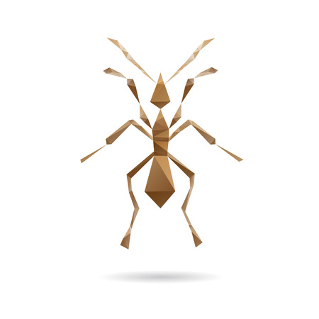 Ant abstract isolated on a white backgrounds, vector illustration