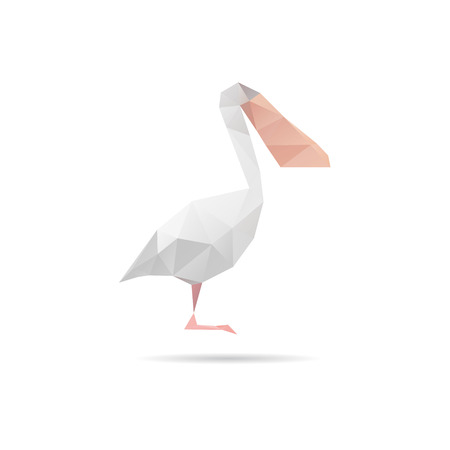 pelican: Pelican abstract isolated on a white backgrounds, vector illustration