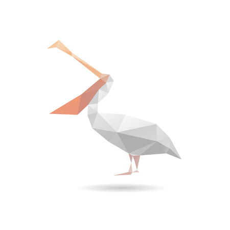 Pelican abstract isolated on a white backgrounds, vector illustration Vector