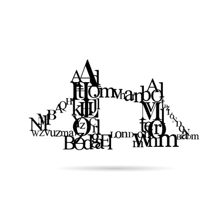 london bridge: Typography London Bridge silhouette