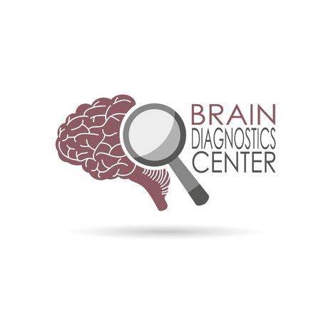 Brain diagnostics symbol design, vector illustration
