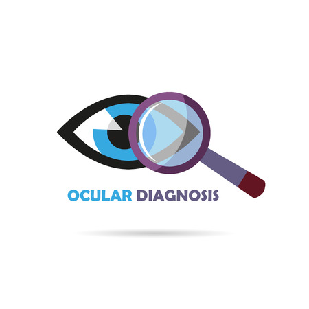 Ocular diagnostics symbol design, vector illustration