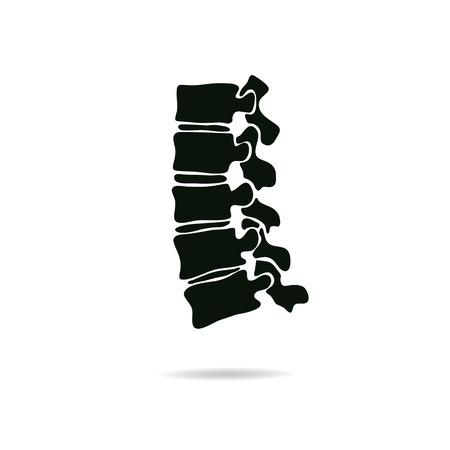 colonna vertebrale: Diagnostica Spine simbolo design, illustrazione vettoriale
