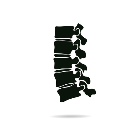 Spine diagnostics symbol design, vector illustration