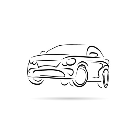 Car abstract lines vector design concept Çizim