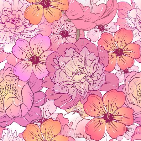 Flowers ornament pattern backgrounds, vector illustration Vector