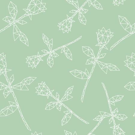 Rose ornament pattern backgrounds, vector illustration Vector