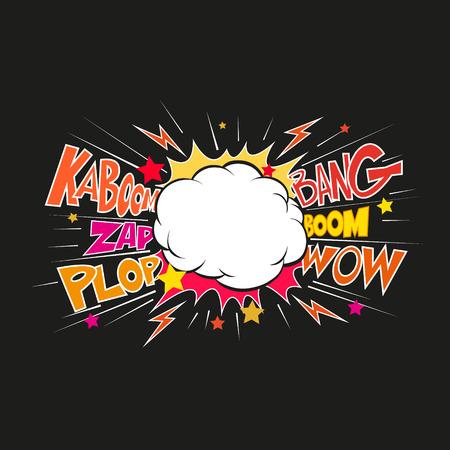 Boom. Comic-explosion.hand zeichnen Vektor-Illustration Standard-Bild - 39596668