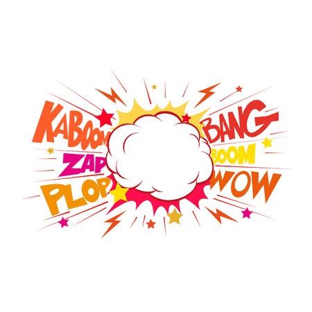 Boom. Comic-explosion.hand zeichnen Vektor-Illustration Standard-Bild - 39762731