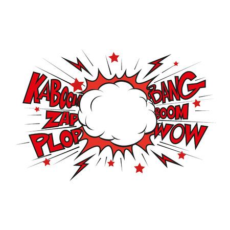 Boom. Comic-explosion.hand zeichnen Vektor-Illustration Standard-Bild - 39762736