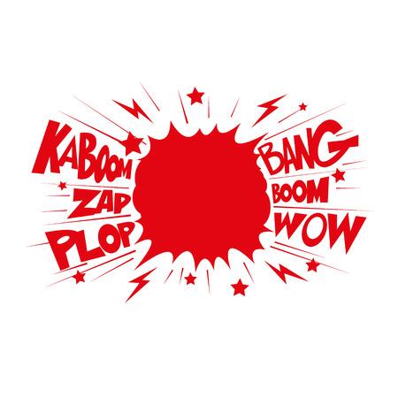 Boom. Comic book explosion.hand draw vector illustration Vector