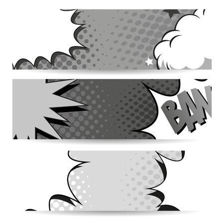 Set of comics boom backgrounds, vector illustration Vector