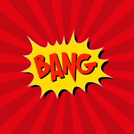 comico: Boom. C�mic explosion.hand dibujar ilustraci�n vectorial Vectores
