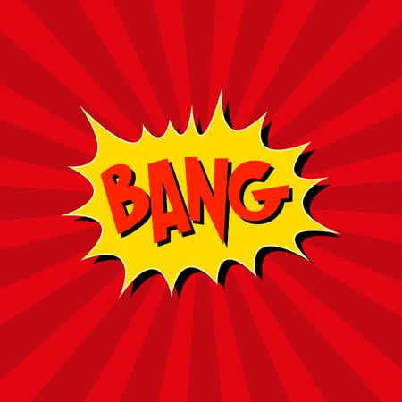 Boom. Comic-explosion.hand zeichnen Vektor-Illustration Standard-Bild - 40010253