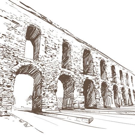 Aqueduc de Valens. illustration