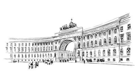 Russia. Saint Petersburg  イラスト・ベクター素材