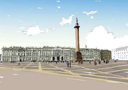 advertising column: Russia. Saint Petersburg.