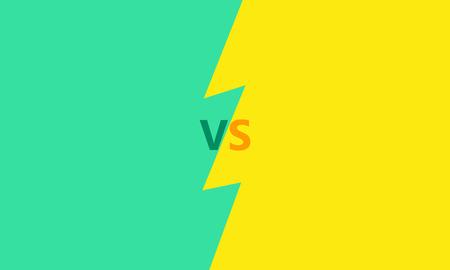 versus: Versus letters fight