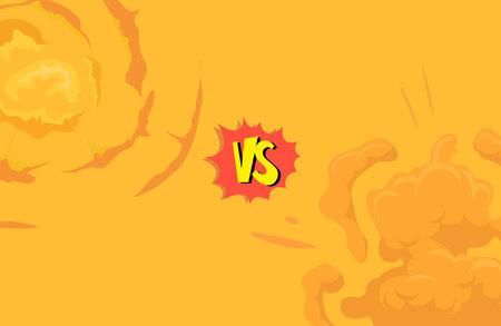 Cartoon explosie boom storyboard comics game-design. Hand getrokken vectorillustratie Vector Illustratie