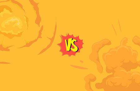 storyboard: Cartoon explosion boom storyboard comics game design. Hand drawn vector illustration Illustration