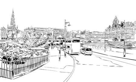 Scotland's city sketch.