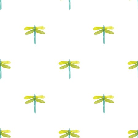 Dragonfly triangle shape seamless pattern backgrounds. Wrapping paper template. Polygonal design illustration.