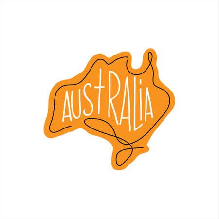 One line Australia design silhouette. Hand drawn minimalism style vector illustration.