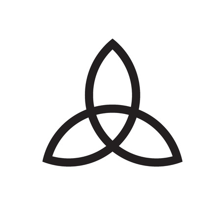 Keltische drievuldigheidstekenteken. Vector lijn illustratie.