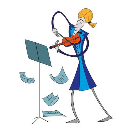 Violinist. Illustration
