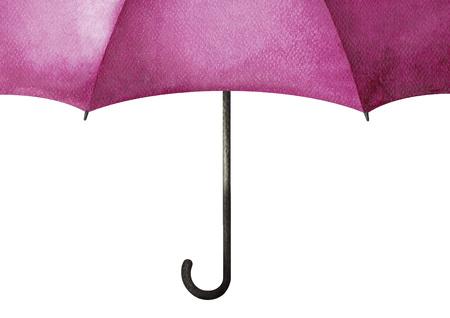 cartoon umbrella: Violet umbrella. Stock Photo